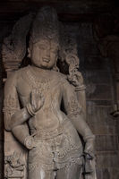 Statue of Vishnu. Chaturbhuj Temple of the Southern Temple Group in Khajuraho