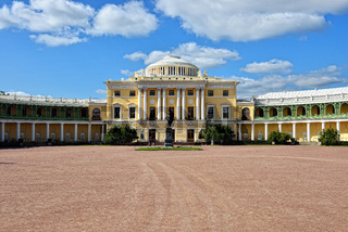 View to the facade of Pavlovsk palace.