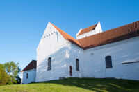 The medieval church of Humble, island Langeland, D