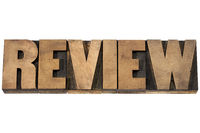 review typography in wood type