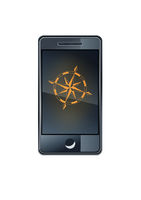 Smartphone with wind rose compass