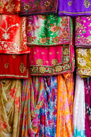 Colorful clothes and saris