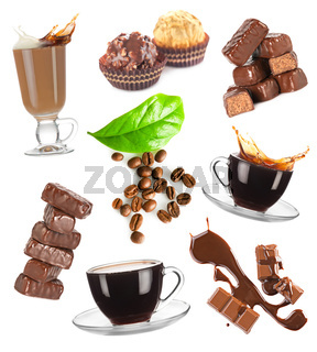 Coffee and chocolate set