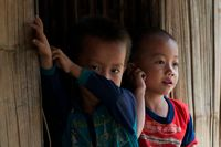 Kinder in Luang Prabang, Laos