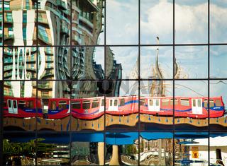 DLR train reflection