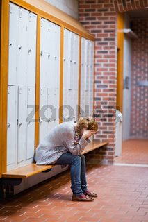 Portrait of a lonely student