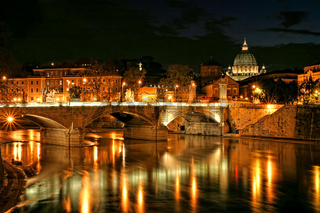 Vatican view at night.