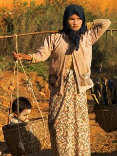 Tragende Mutter, Myanmar