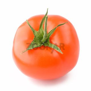 A fresh tomato isolated on white background