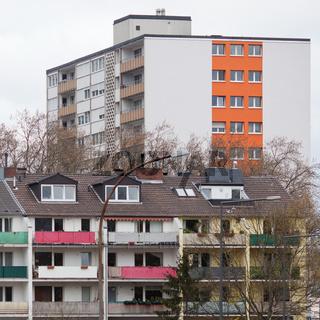 Wohnblocks am Stadtrand