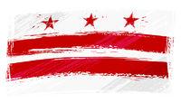Grunge Columbia flag