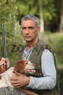 senior man hunting