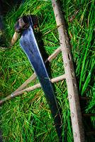 scythe grate fresh grass