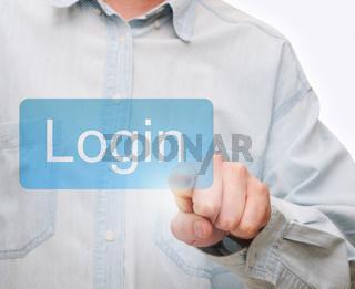 Pushing Login Button