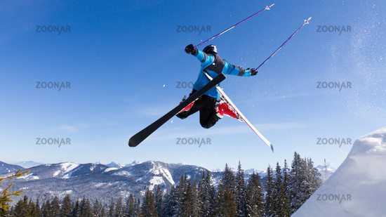 Skier in a jump