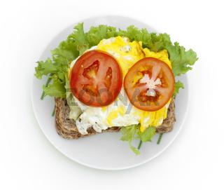 Egg sandwich.
