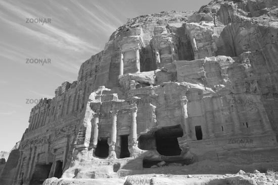 Corinthian tomb, Petra, Jordan