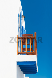 Balcony in Greek cycladic house