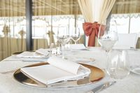 Wedding catering setting