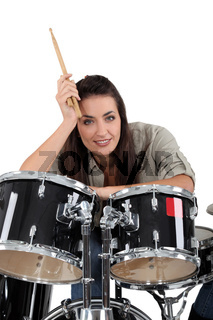 Female drummer