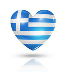 Love Greece, heart flag icon
