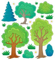 Tree theme collection 1 - picture illustration.