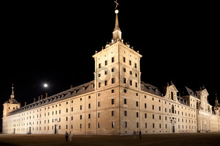 San Lorenzo de El Escorial Monastery, Spain at Night
