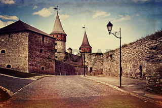 Vintage style image of old castle