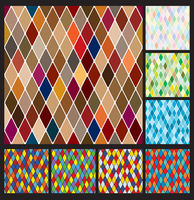 Harlequine pattern set