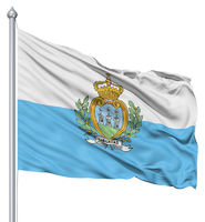 Waving flag of San Marino