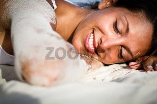 Relaxed on beach