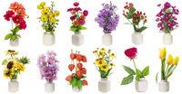 minimalistic  floral bouquets  set