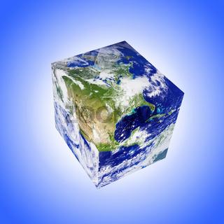 earth square globe