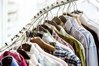 Shirts on hangers