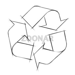 recycling logo illustration