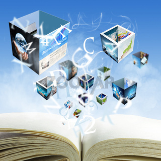open blank book streaming business images'Elements of this image furnished by NASA'