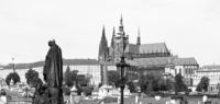 Prague Castle in Black and White