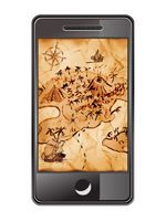 Smartphone with treasure map