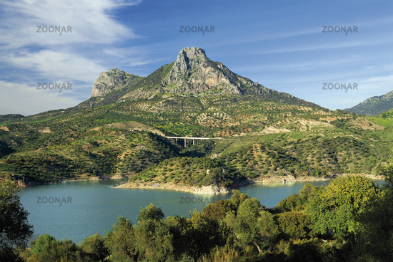 Andalusia: Landscape around Zahara de la Sierra