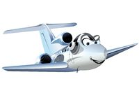 Cartoon Civil utility airplane