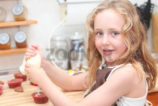 kid baking or cooking