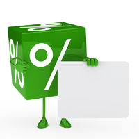 green sale cube
