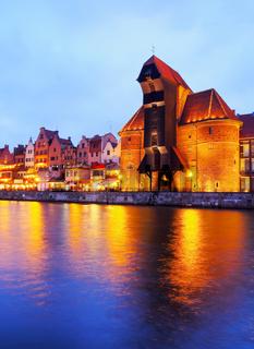 Old Port Crane in Gdansk, Poland