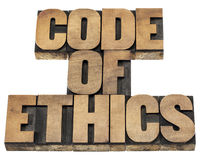 code of ethics in wood type