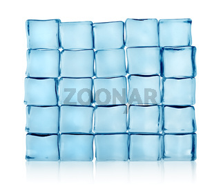 Figures from ice cubes isolated