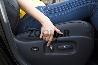 Electric seat adjustment of car