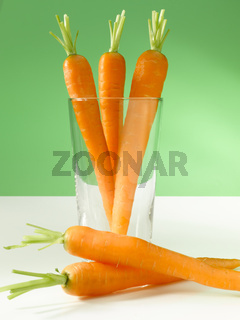 Carrots in glass