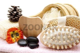 Massagebürste mit Herz