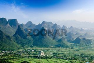 beautiful karst mountain landscape in guilin