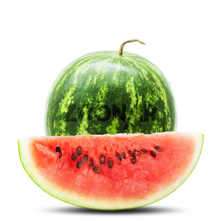 Watermelon, isolated on white background
